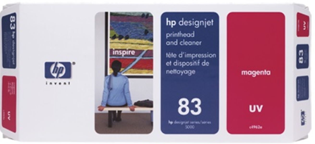 HP Printhead 83, magenta UV C4962A