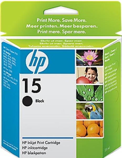 HP Ink Cartridge, 15, black C6615DE