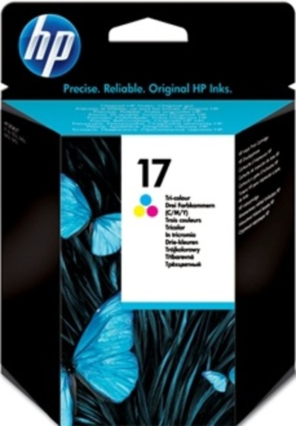 HP Ink Cartridge 17, tricolor C6625AE