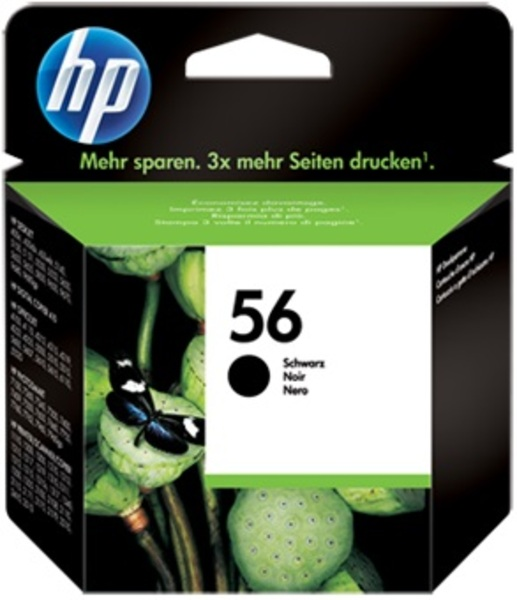 HP Ink Cartridge, 56, black C6656AE