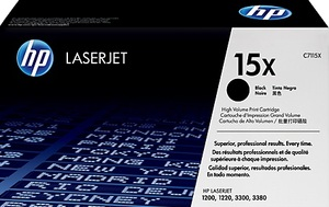HP Toner, 15X, black C7115X