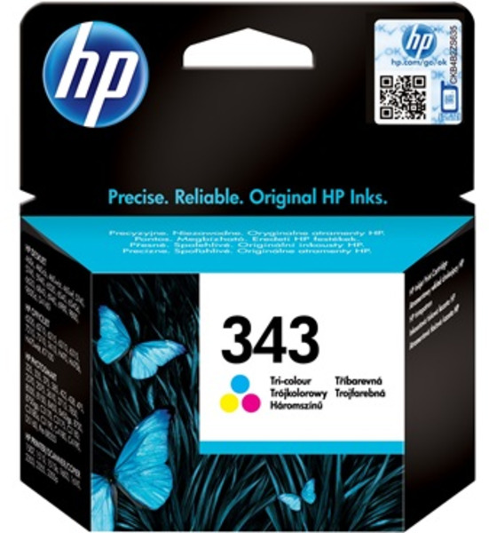 HP Ink Cartridge, 343, tricolo C8766EE