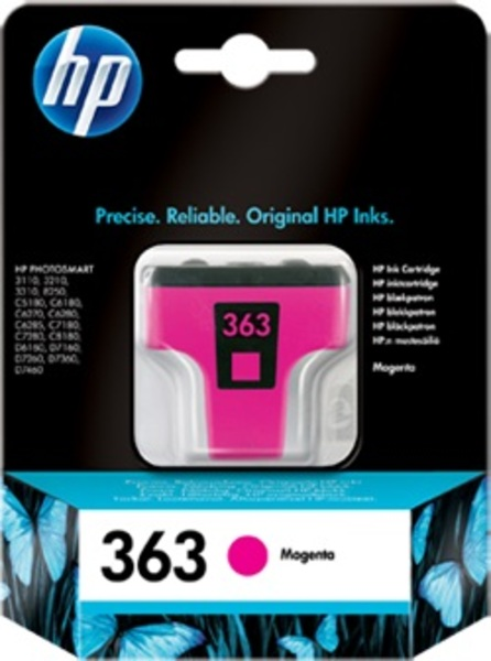 HP Ink Cartridge, 363, magenta C8772EE