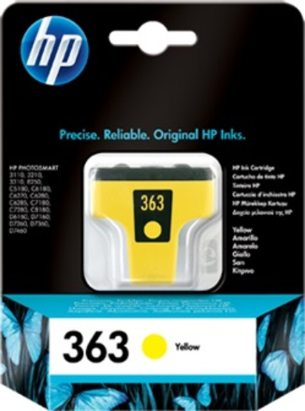 HP Ink Cartridge, 363, yellow C8773EE