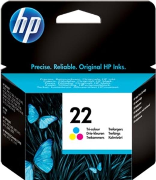 HP Ink Cartridge, 22, tricolor C9352AE