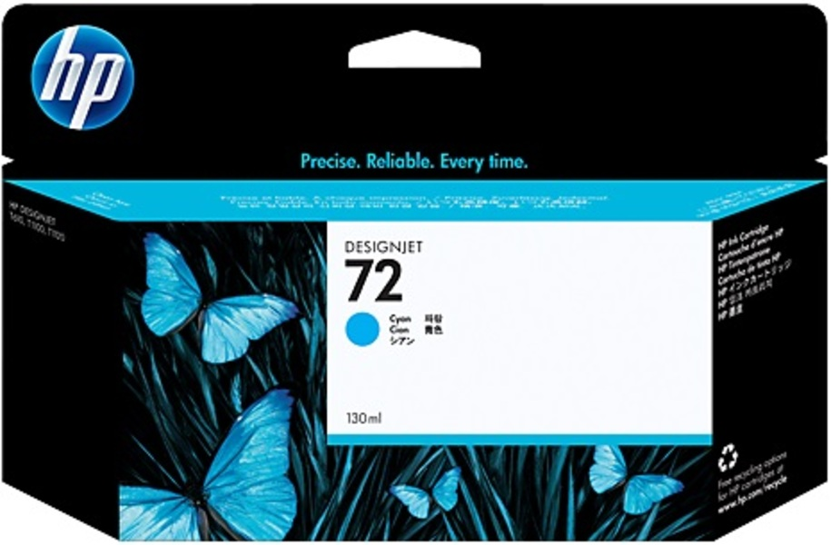 HP Ink Cartridge, 72, cyan C9371A