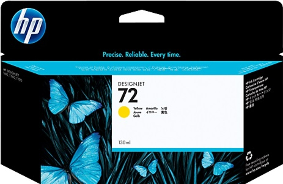 HP HP Ink Cartridge, 72, yellow C9373A