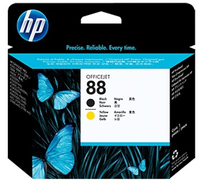 HP Printhead 88, black/yellow C9381A