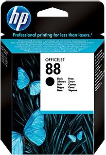 HP Ink Cartridge, 88, black C9385AE