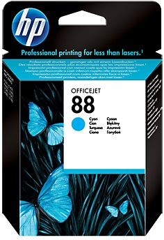 HP Ink Cartridge, 88, cyan C9386AE