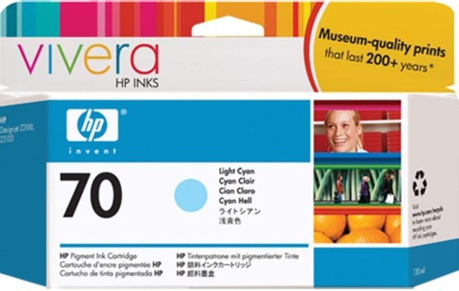 HP Ink Cartr., 70, light cyan C9390A