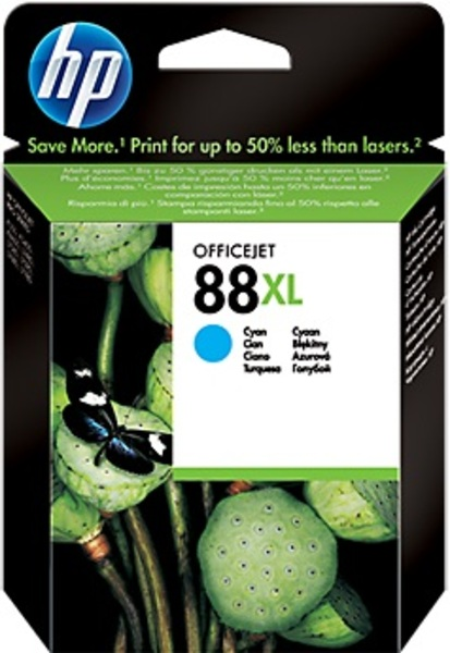 HP Ink Cartridge, 88, cyan XL C9391AE