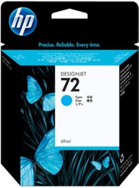 HP Ink Cartridge, 72, cyan HPC9398A