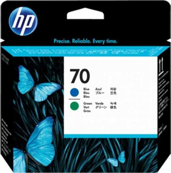 HP Printhead 70, blue + green C9408A