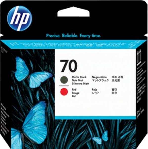 HP Printhead 70, BK matt+red C9409A