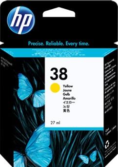 HP HP Ink Cartridge, 38, yellow C9417A