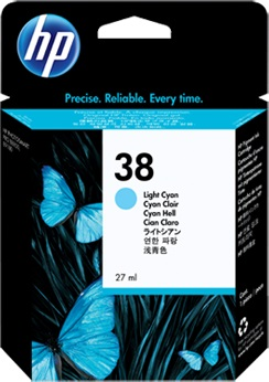 HP Ink Cartridge, 38, light cy C9418A