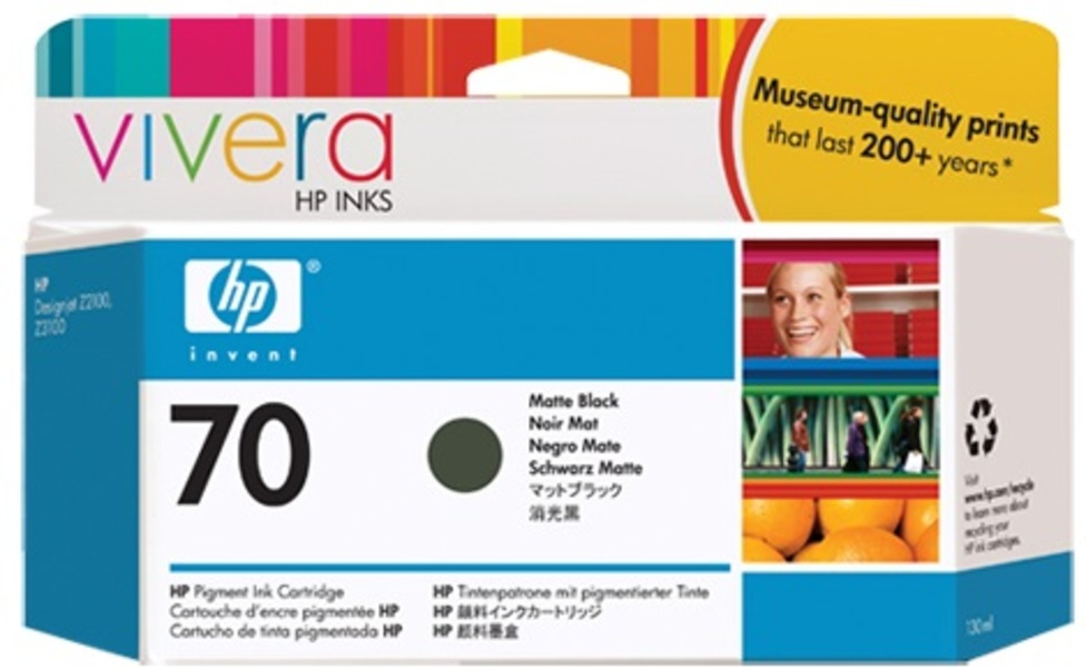 HP Ink Cartr., 70, black matte C9448A