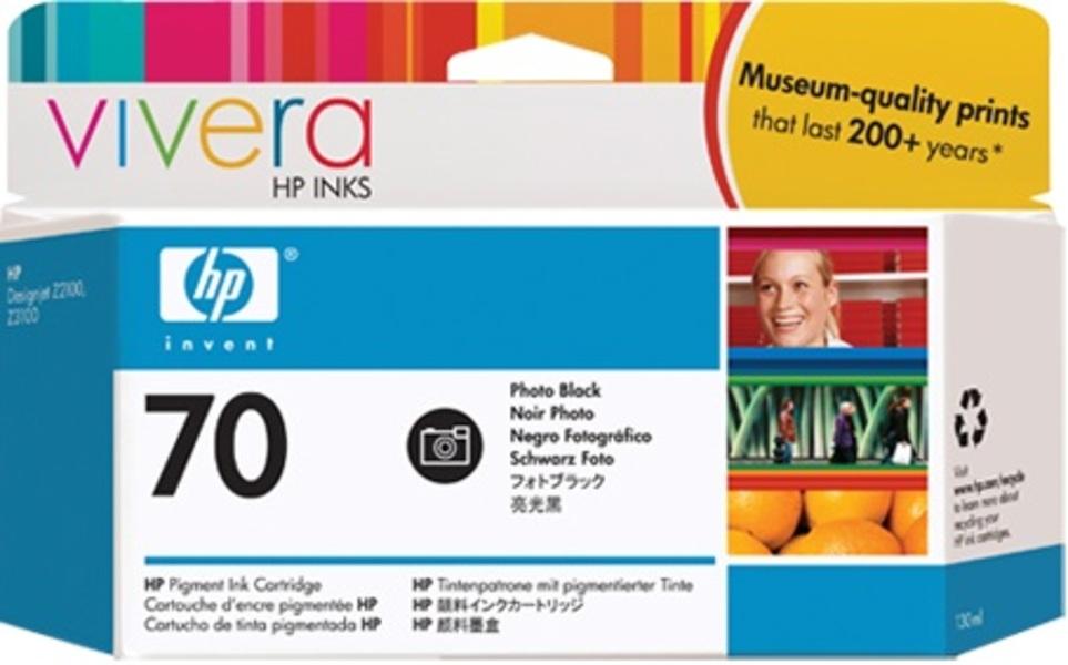 HP Ink Cartr., 70, black photo C9449A