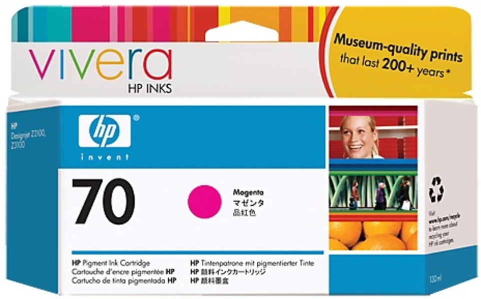 HP HP Ink Cartridge, 70, magenta C9453A
