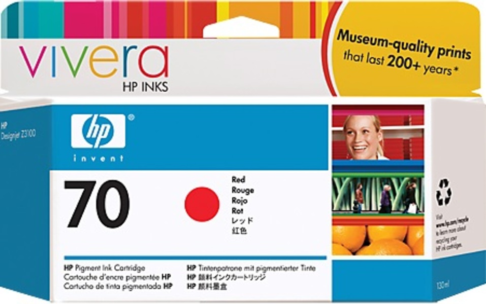 HP HP Ink Cartridge, 70, red C9456A