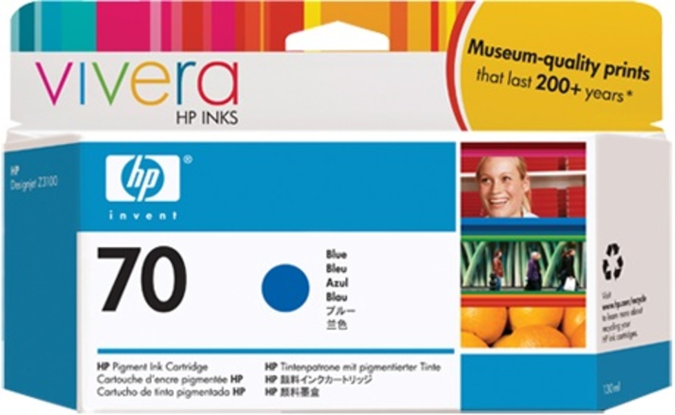 HP Ink Cartridge, 70, blue C9458A
