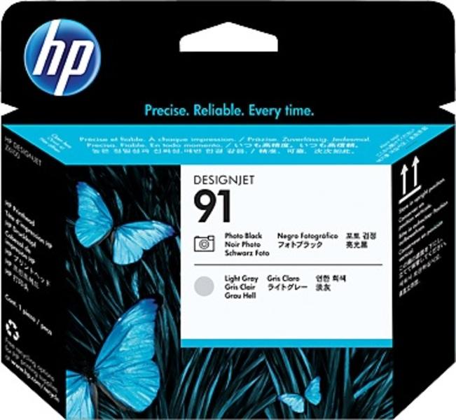HP 91 Photo Black & Light Grey Printhead C9463A