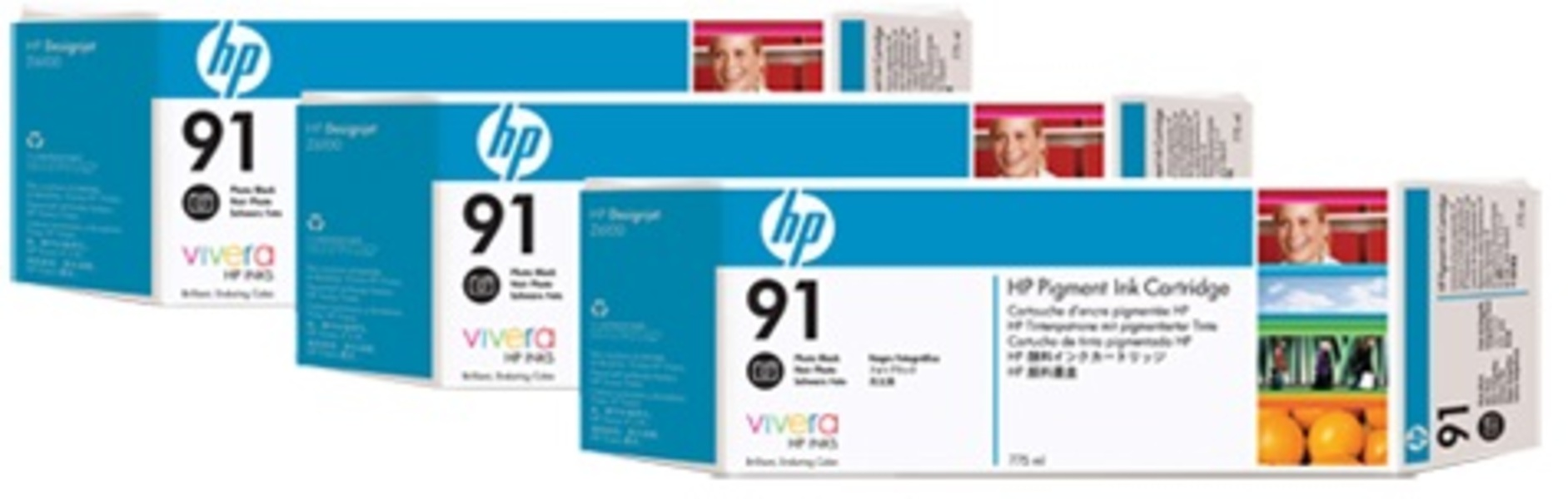 HP Ink Cartr., 91, black photo C9481A