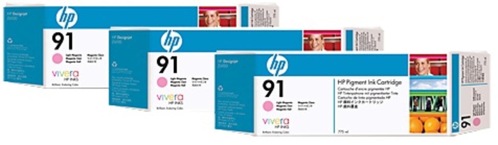 HP HP Ink Cartr., 91, light magen C9487A