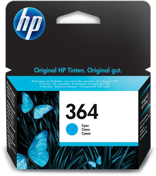 HP Tintenpatrone 364 cyan CB318EE