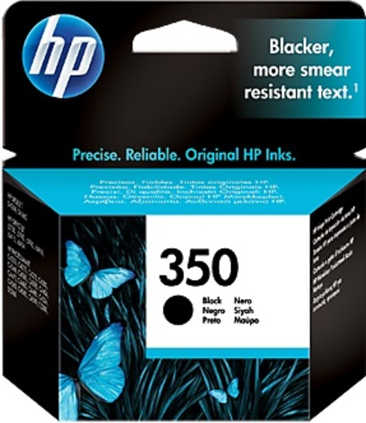 HP Ink Cartridge, 350, black CB335EE