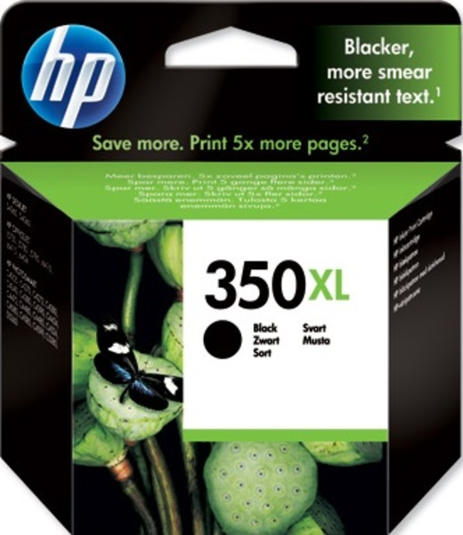 HP Ink Cartridge, 350XL, black CB336EE