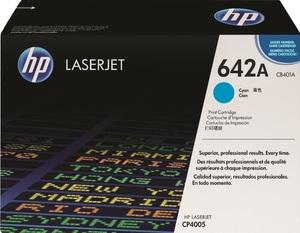 HP Toner, 642A, cyan CB401A
