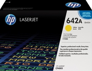 HP Toner, 642A, yellow CB402A