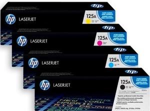 HP Toner-Set bestehend aus 1x CF373AM + 1x CB540A = 4x 125A (CMYBK) CB540ASet