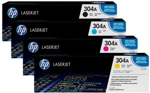 HP Toner-Set bestehend aus 1x CF372AM + 1x CC530A = 4x 304A (CMYBK)