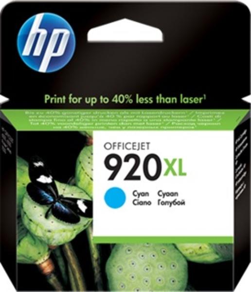 HP 920XL Cyan Officejet Ink Cartridges CD972AE#BGY