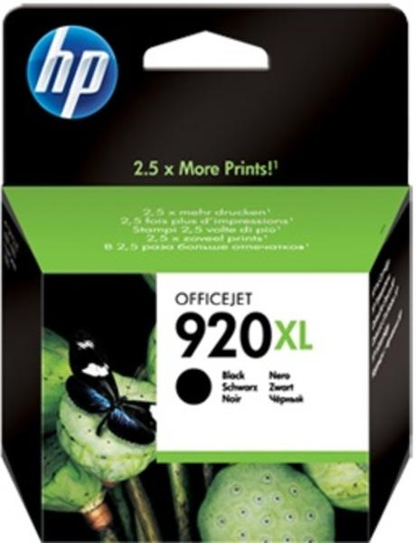 HP 920XL Black Officejet Ink Cartridges CD975AE