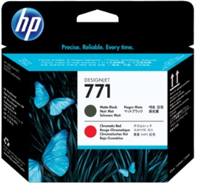 HP No 771 Matte Black/Chr Red Print Head CE017A