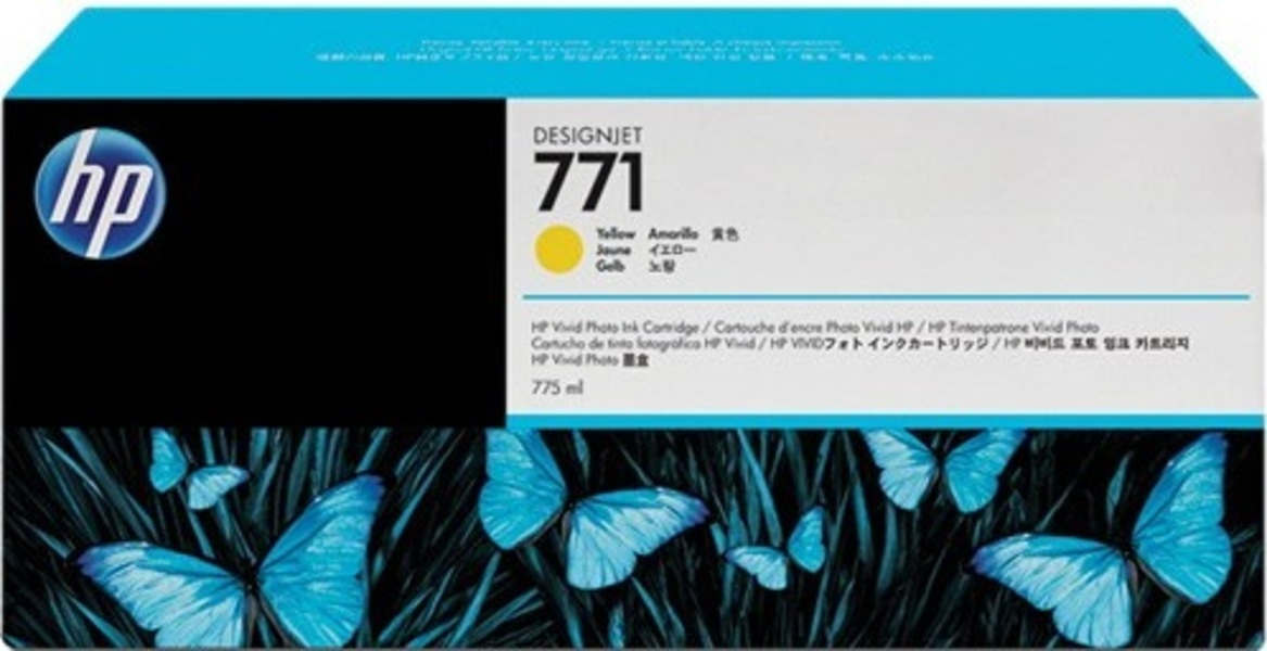 HP No 771 Ink Cart/Yellow 775ml CE040A