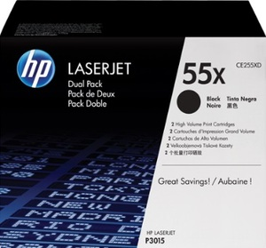 HP Toner/Dual Black Cartridge f P3015 CE255XD