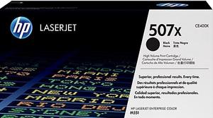 HP Toner 507X / schwarz CE400X