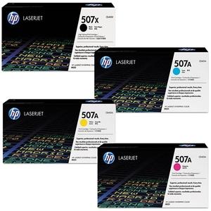 HP Toner-Set bestehend aus je 1x CE400X, CE401A, CE402A, CE403A = 1x 507X + 3x 507A