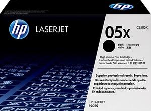 HP CE505X Toner schwarz mit 6.500 Seiten CE505X