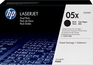 HP Toner CE505XD / schwarz / Doppelpack CE505XD