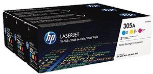 HP Toner/305A CYM Tri-Pack Laser Jet CF370AM