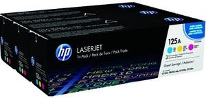 HP 125A CYM Tri-Pack LaserJet Toner Cart
