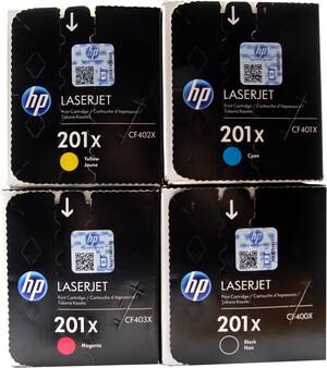 HP Toner-Set bestehend aus je 1x CF400X, CF401X, CF402X, CF403X = 4x 201X CF400XSet