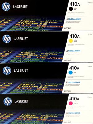 HP Toner-Set bestehend aus je 1x CF410A, CF411A, CF412A, CF413A = 4x 410A CF410ASet