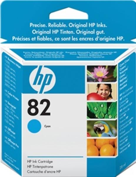 HP No 82 Ink Cart/Cyan 28ml CH566A